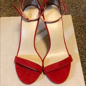 Shoes - NWT Express red faux suede high heel sandal